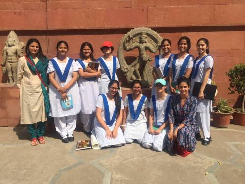 SC Arts girls visit National Museum, Delhi, with ex-welhamite Vasundhara Sangwan